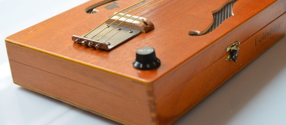 Saitenhalter Cigar Box Guitar